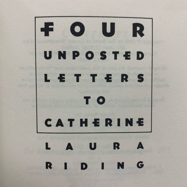 Four Unposted Letters to Catherine interior