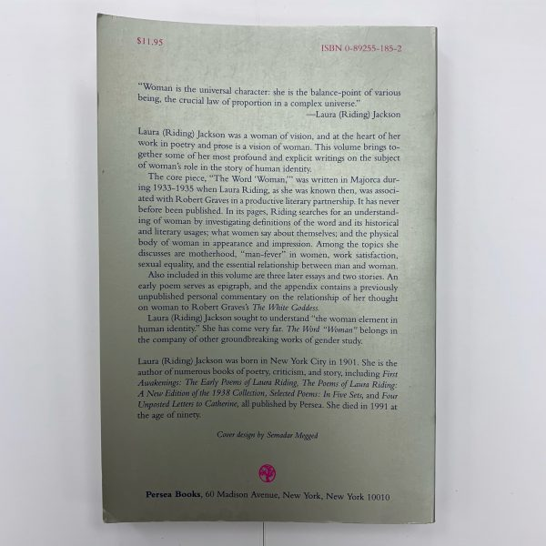 The Word Woman back cover