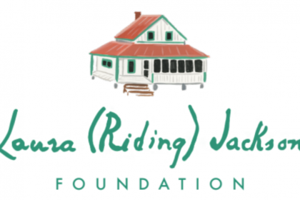 Laura (Riding) Jackson Foundation logo with red roofed house