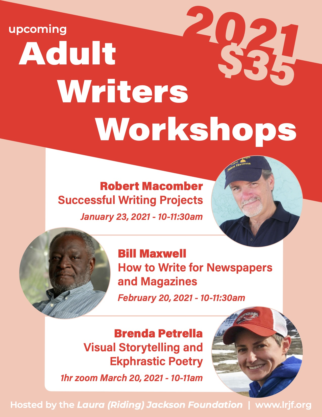 Advertising adult writer workshops