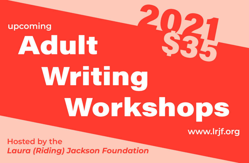 Sign Up for Adult Writing Workshops!