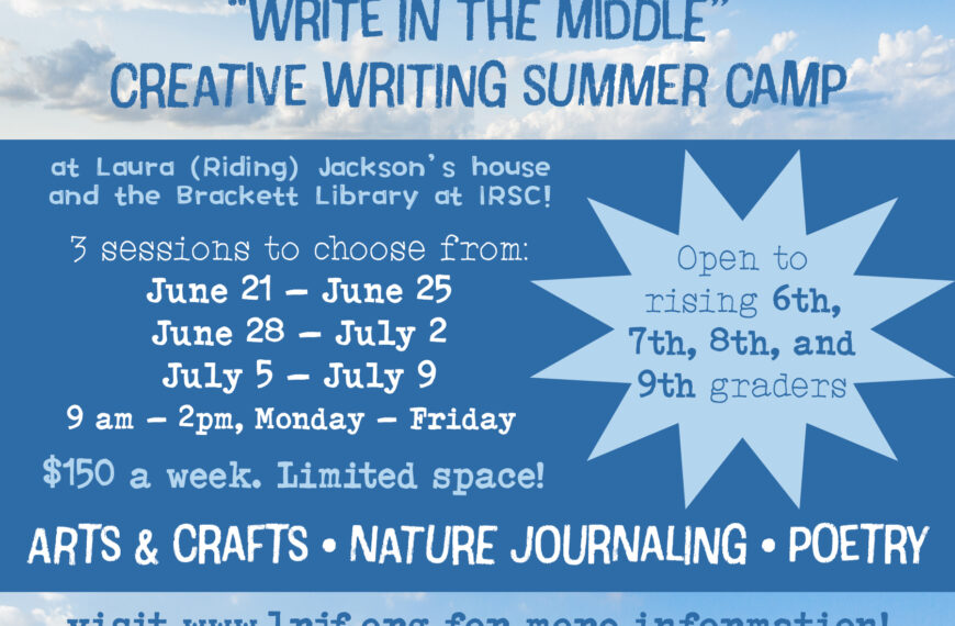 Write in the Middle Creative Writing Summer Camp